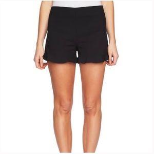 1. State Black Flat Front Ruffle Hem Shorts NWT 10